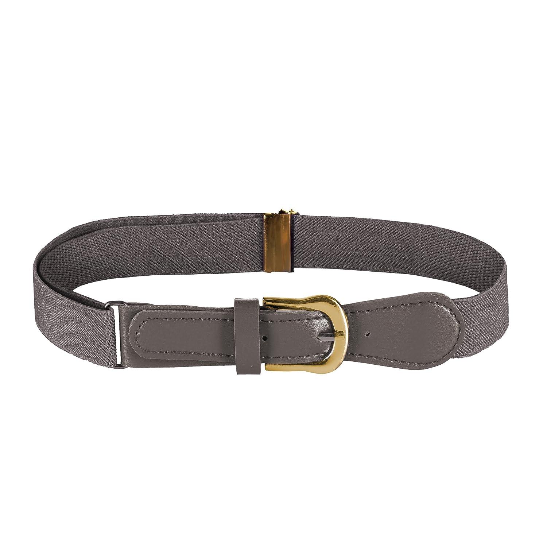 FIT RITE Kids Elastic Adjustable Belt with Leather Closure 1501