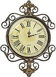 Lulu Decor, Antique Roman Metal Wall Clock in Fleur De Lis Design, Perfect for Housewarming Gift. (Vintage)