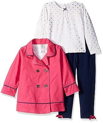 2f851980c2d4c Little Me Baby Girls' 3 Piece Fashion Jacket and Legging Set, Pink/Multi