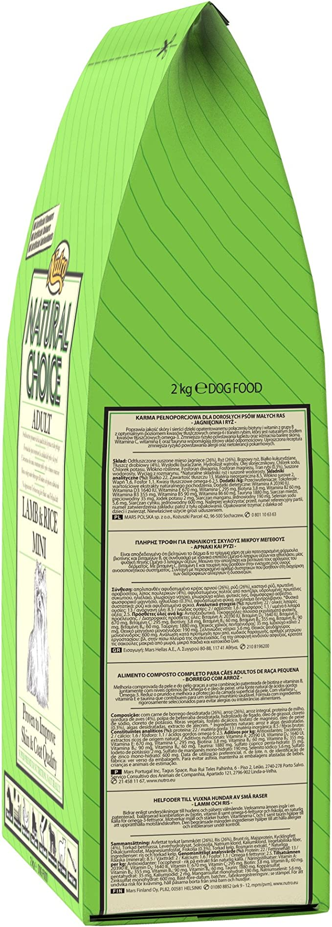 NUTRO natural Choice LAMB & RICE MINI - Comida para perros adultos, cordero y arroz mini 2kg: Amazon.es: Productos para mascotas