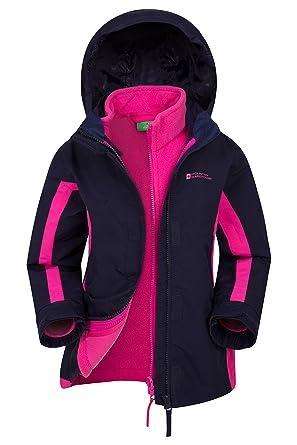 Mountain Warehouse Veste 3 en 1 Lightning pour Enfants -Manteau  imperméable, Poches zippées, c01da775b123