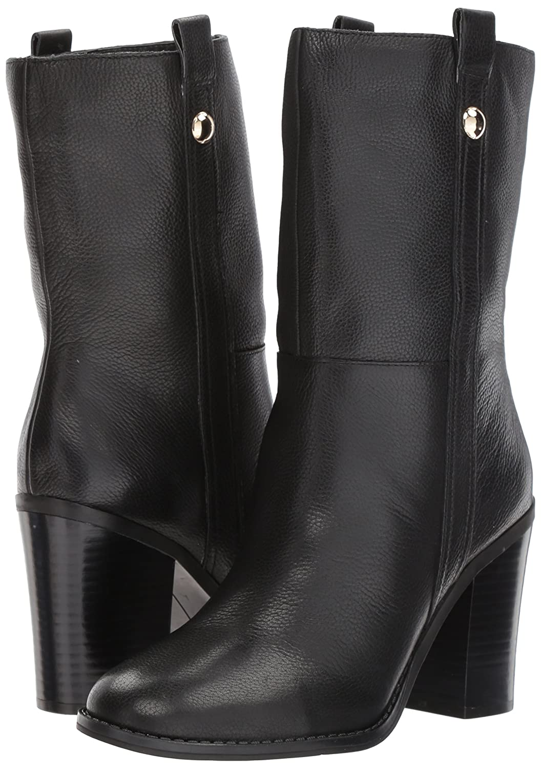 Nine West Women's Howl Leather Mid Calf Boot B071HRB7C6 8.5 B(M) US Black Leather