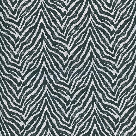Textiles français Tela de algodón Estampada - Cebra - Blanco y ...