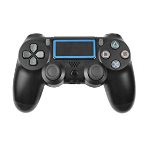 TURPOW PS4 Controller Wireless Gamepad for Playstation 4/Pro/Slim/PC/Smart TV and Laptop - Black