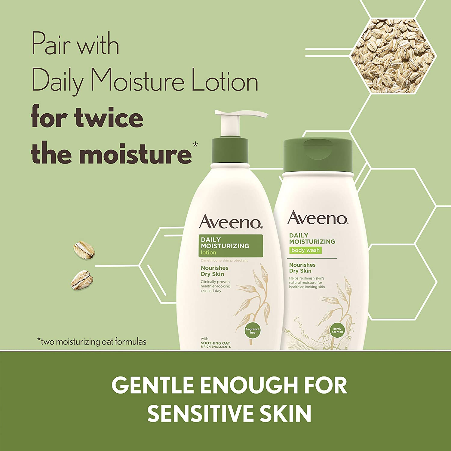 Aveeno Daily Moisturizing Body Wash for Dry Skin with Soothing Oat & Rich Emollients, Creamy Shower Cleanser, Gentle, Soap-Free and Dye-Free, Light Fragrance, 18 fl. oz : Bath And Shower Gels : Beauty