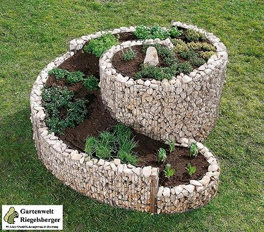 Maceta de jardín para hierbas con forma espiral Bellissa, jardinera, jardinera para especias, jardinera para verduras, macetero de Gartenwelt Riegelsberger: Amazon.es: Jardín