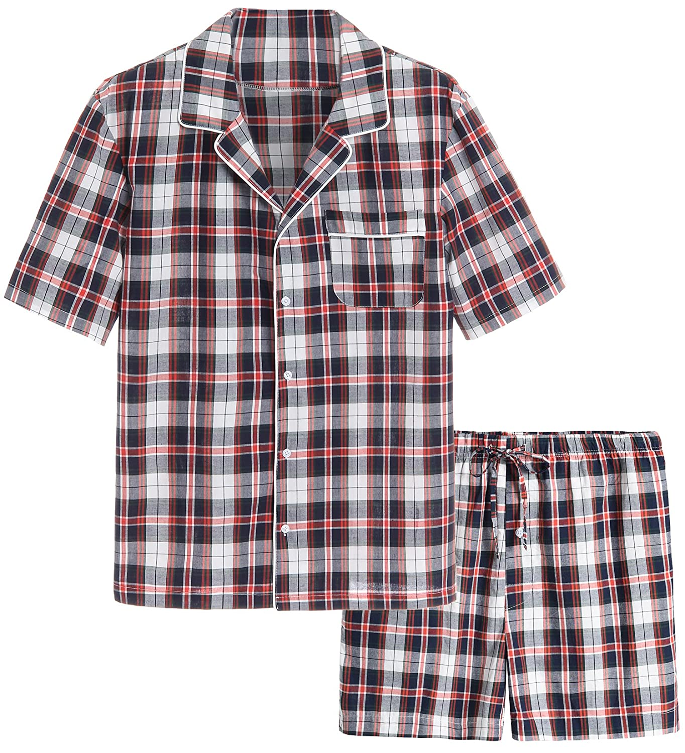 Latuza Men's Cotton Woven Short Sleepwear Pajama Set 24-00-7628
