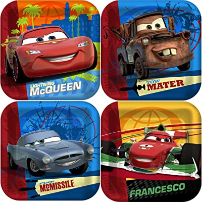 Disney Cars 2 Party Cake/Dessert Plates 8ct: Toys & Games