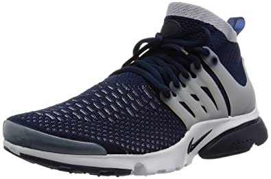 new concept 6da9d f1d9c Nike Mens Air Presto Flyknit Ultra Challenge Navy Grey-White Nylon Size 9.5