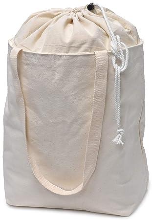 Amazon.com: Bolsas de lona para supermercado, 19 x 15 ...