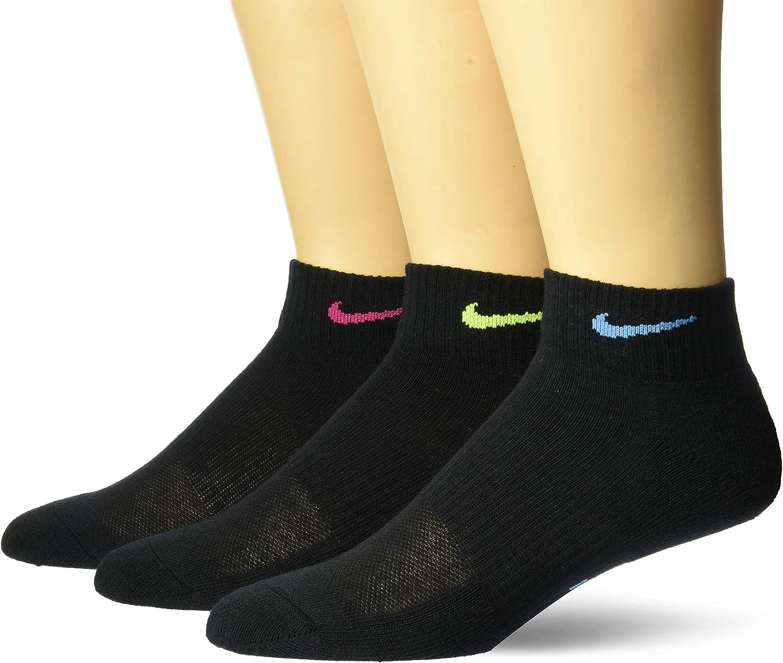 Activamente transfusión Hacer la cena  Nike womens Women's Nike Everyday Cushion Ankle 3 Pair: Clothing -  Amazon.com