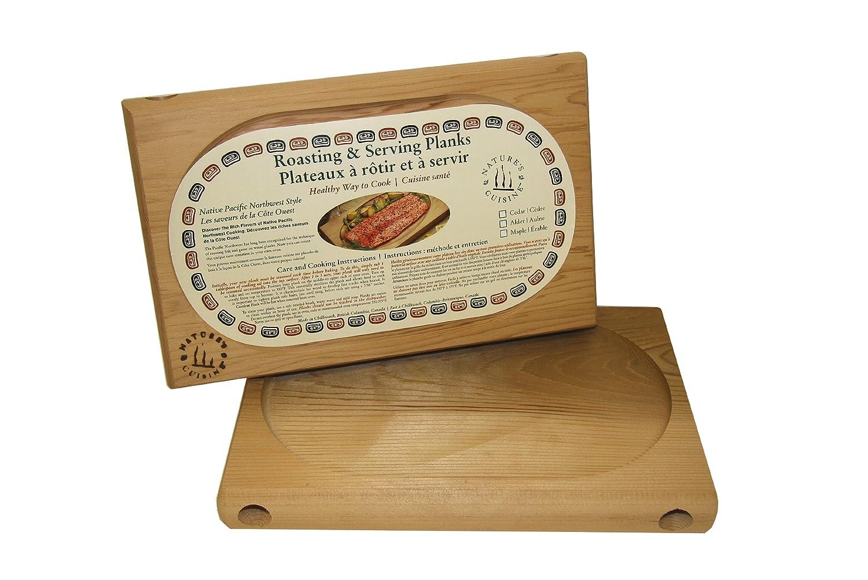 Nature's Cuisine NC002B 12-Inch x 7.75-Inch Cedar Oven Roasting Plank, No Tool (Wood) Natures Cuisine