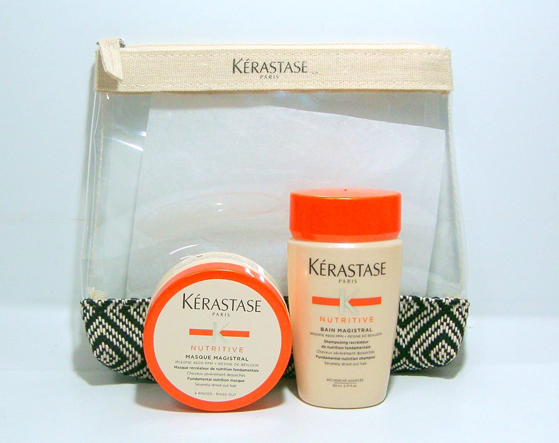 Kerastase Kit da Viaggio Nutritive Bain Magistral 80ml + Masque Magistral 75ml + Omaggio Pochette