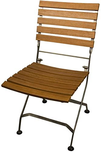 Arboria Folding Patio Chairs Classic Design With Armrest Eucalyptus Hardwood Set of 2 880.1304