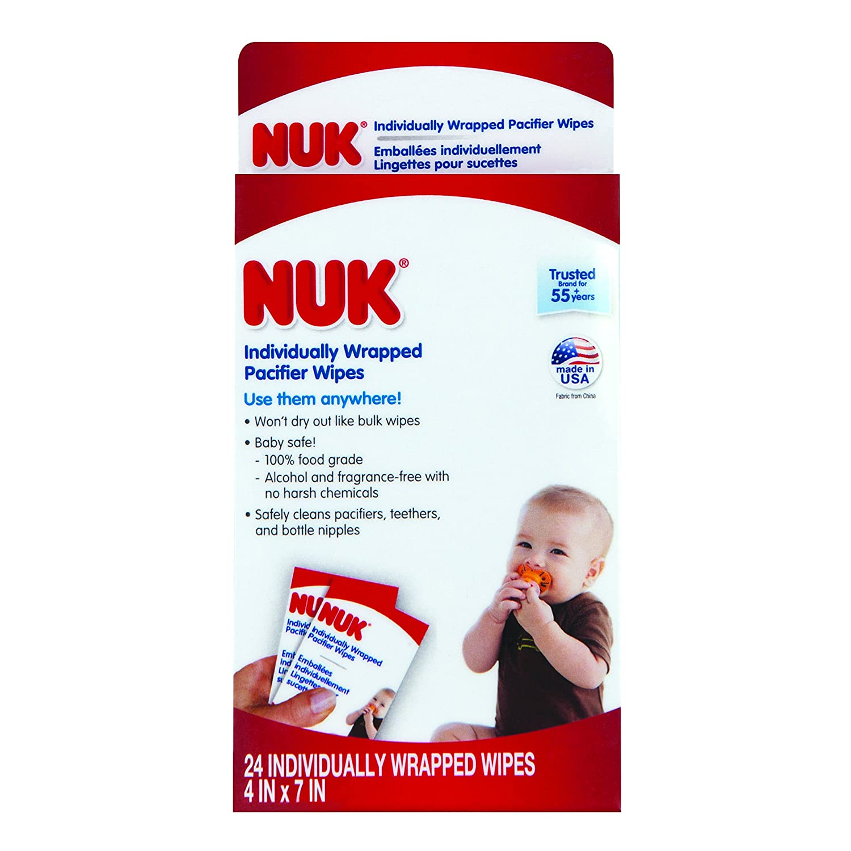 Amazon.com: NUK envueltas individualmente con chupete Wipes ...