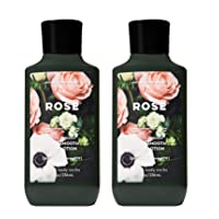 Bath and Body Works 2 Pack Rose Super Smooth Body Lotion. 8 Oz.