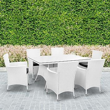 Rosario rectangular ratán muebles de jardín conjunto mesa de ...