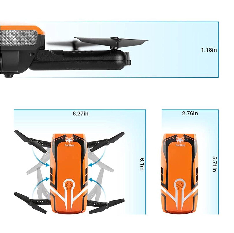RC Quadcopter con 720P HD cámara Wi-Fi, FPV Mini Drone H818 Selfie ...
