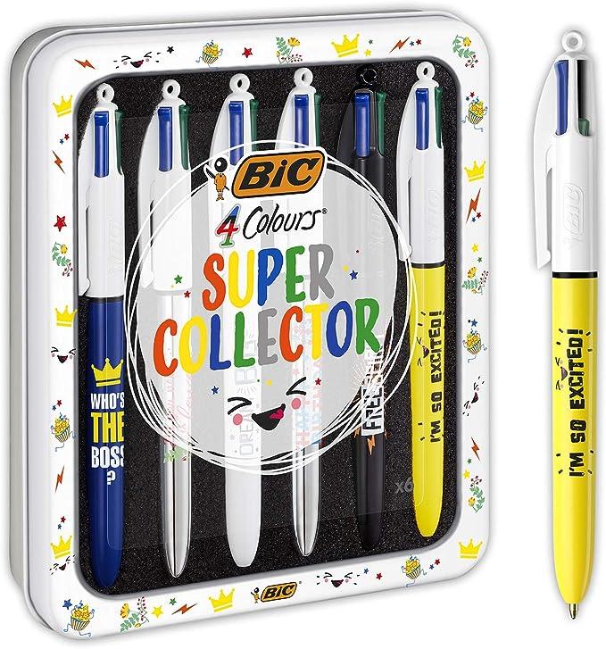 BIC 4 Colores Messages Bolígrafos de Punta Media (1,0 mm) - Varios ...