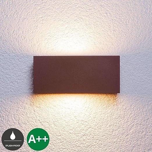 Moderna LED 8 Watt illuminazione da giardino Lampada esterno balcone in alluminio luce ip44