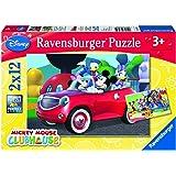 Ravensburger 07565 - Topolino and Co Puzzle, 2x12 Pezzi