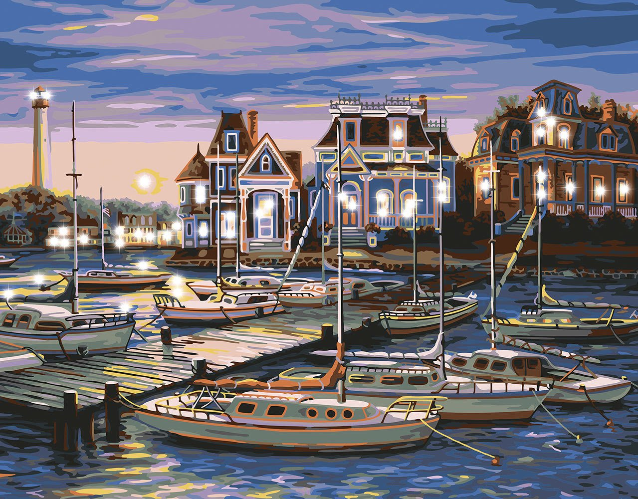 Plaid Cape May Harbor Lighted Paint By Number Kit Energi8_mar