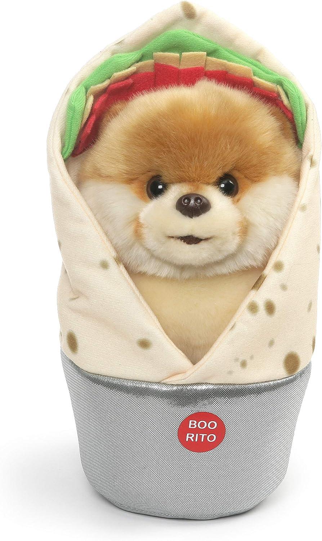 GUND Boo World's Cutest Dog Boo-rrito Burrito Plush Stuffed Animal, Multicolor, 9