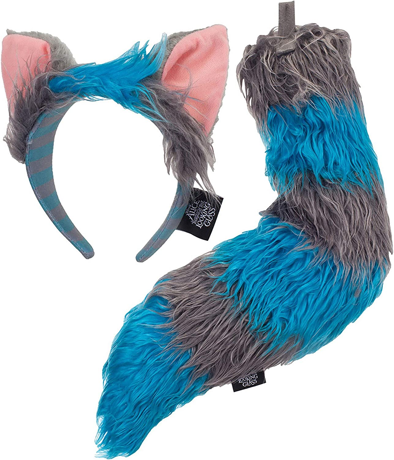 Amazon Com Disney Alice Through The Looking Glass Cheshire Cat Ears Headband And Tail Deluxe Costume Accessory Kit Clothing