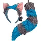 Disney Alice Through the Looking Glass Cheshire Cat Ears Headband and Tail Deluxe Costume Accessory Kit