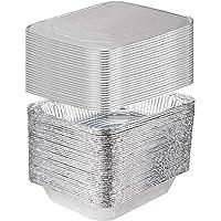 [25 Sets] 9 x 13 Aluminum Foil Steam Table Pans With Lids - Half Size Deep