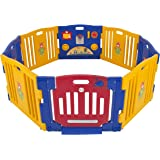 Best Choice Products Baby Playpen Kids 8 Panel Safety Play Center Yard Home Indoor Outdoor New Pen - Blue