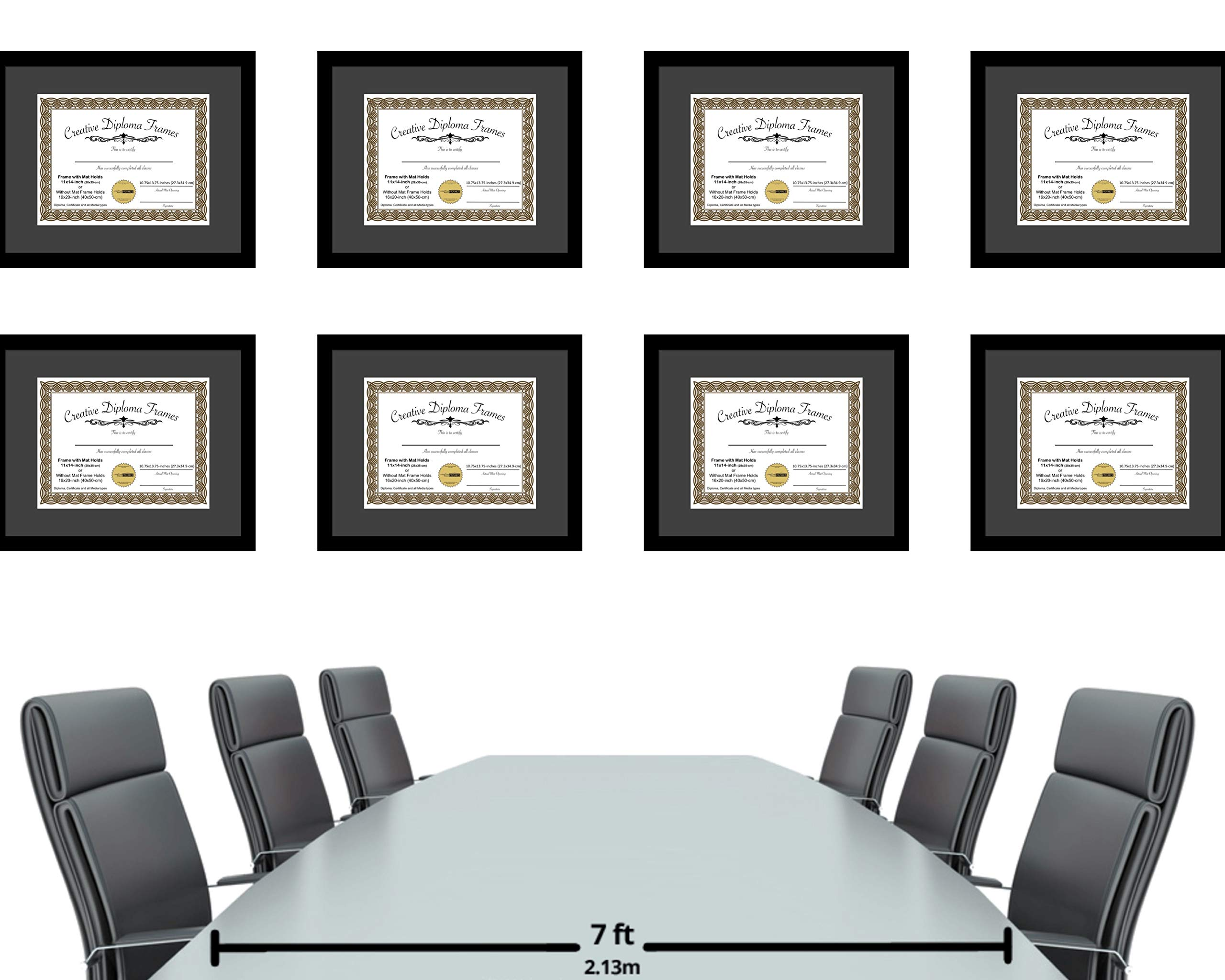 CreativePF [1620bk-b] Satin Black Large Diploma Frame with Black Mat Holds 14x17-inch Documents with Glass and Installed Wall Hanger by Creative Picture Frames (Image #6)
