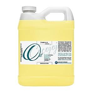 JOJOBA OIL Cold Pressed Unrefined 100% Pure Natural 32 oz Jojoba Oil Carrier for Essential Oils, Cleansing, Moisturizer for Face, Hair Moisturizer, Ears, Eyelash, Massage, Makeup Remover, Soap Making