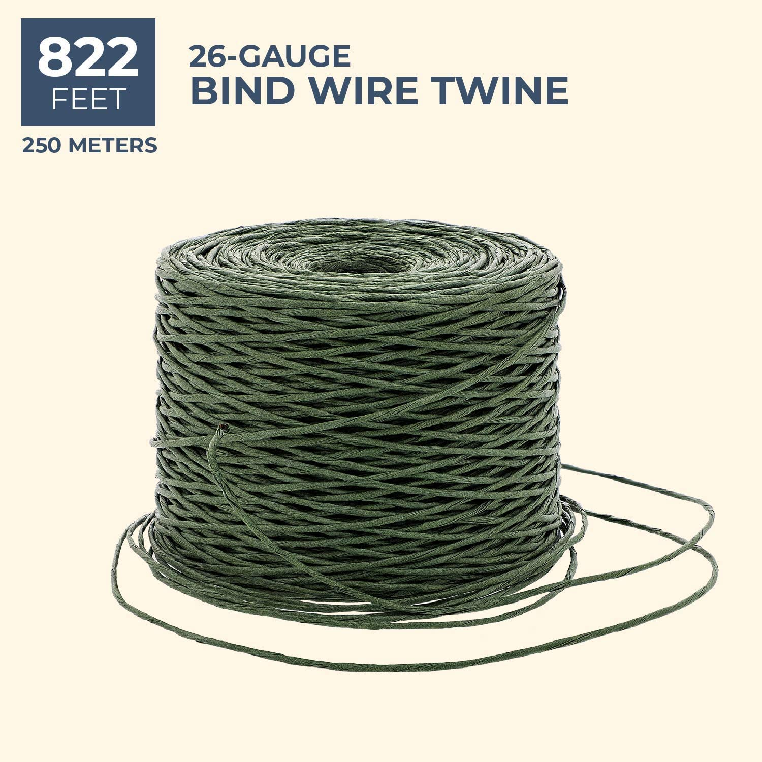 and Gift Wrapping Green Crafts 26 Gauge 822 Feet Bright Creations Bind Wire Twine for Flowers