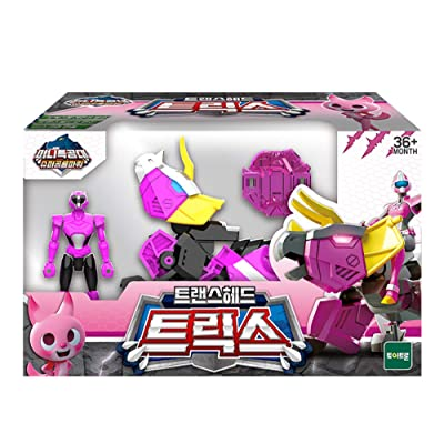MINI FORCE Miniforce Trans Head Trice Super Dinosaur Power Triceratops Action Figure Toy: Toys & Games