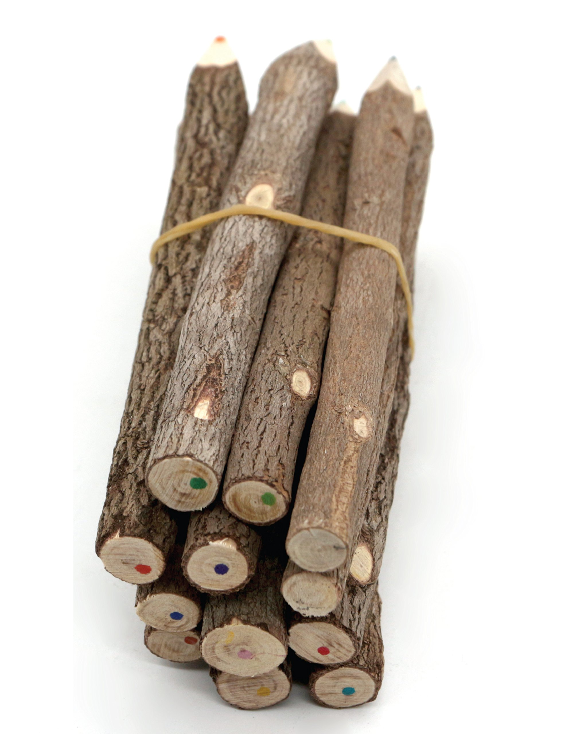 Assorted-Stick Twig Colored Outdoor Wooden Pencils Tree Child Camping Decorative Color by BSIRI (Image #5)
