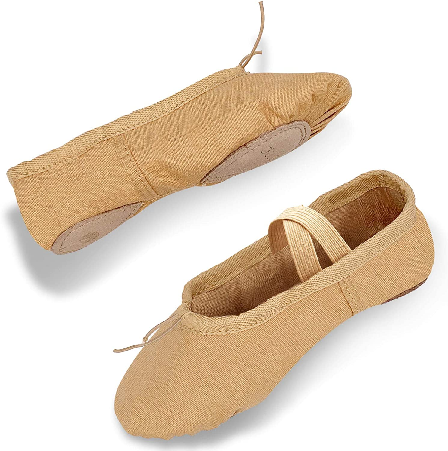 DIPUG Ballet Shoes for Girls Toddler Ballet Shoes Canvas Dance Ballet Slippers