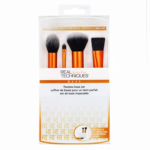 Real Techniques Flawless Base Make-up Brush Set (Core Collection Kit)