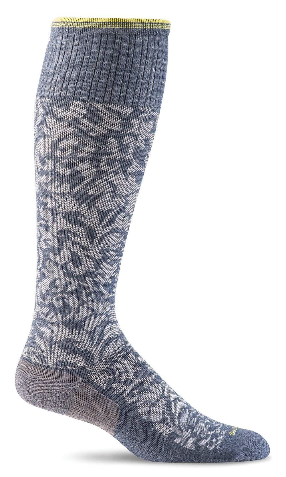 Sockwell Women's Damask Socks, Denim, Small/Medium