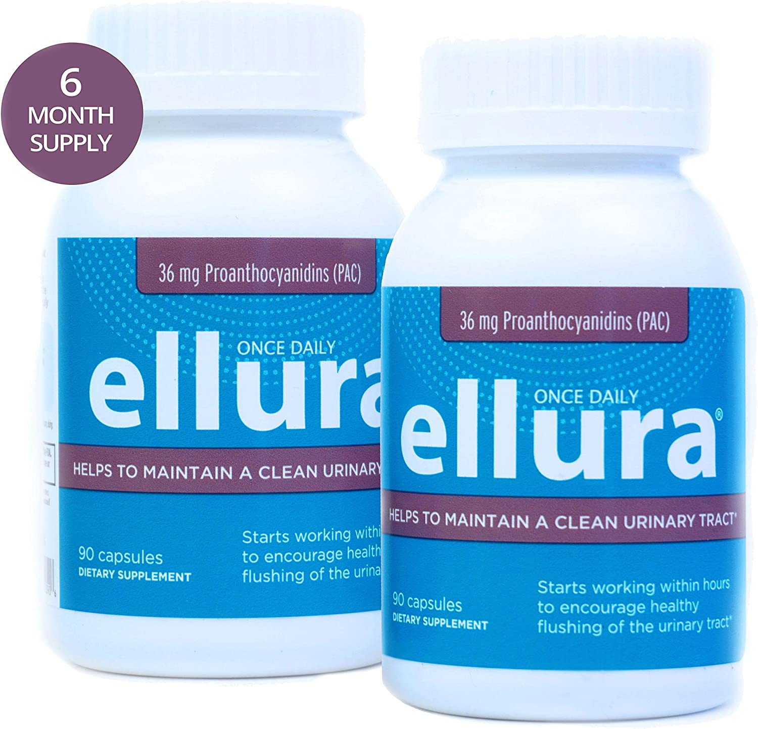 ellura 36 mg PAC 180 caps – Medical-Grade Cranberry Supplement for UTI Prevention – Highest Potency