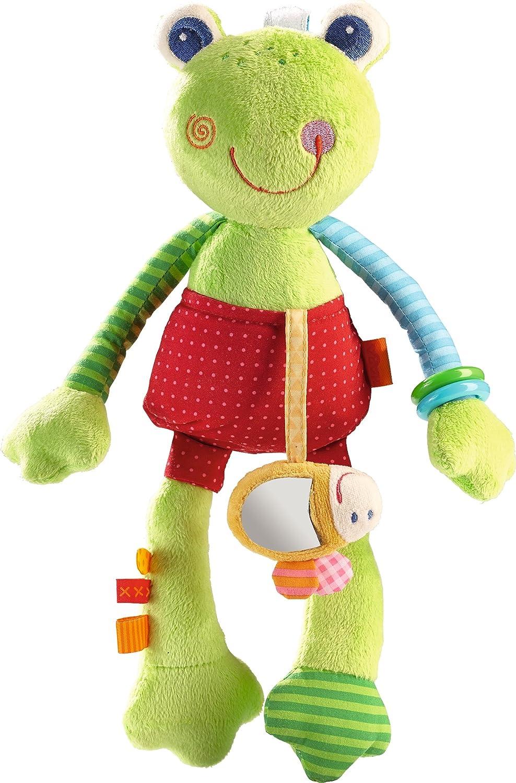 HABA 302836 - Spielfigur Regenbogenfrosch   Kuscheltier mit Bienchen und vielen Spieleffekten   Baby- Spielzeug ab 6 Monaten Habermaass GmbH