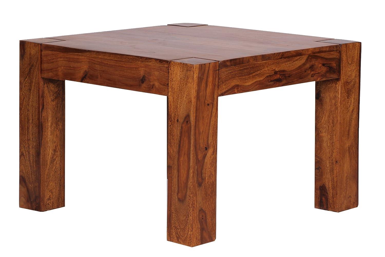 Wohnling Couchtisch Massiv-Holz Sheesham 60 cm breit Wohnzimmer ...