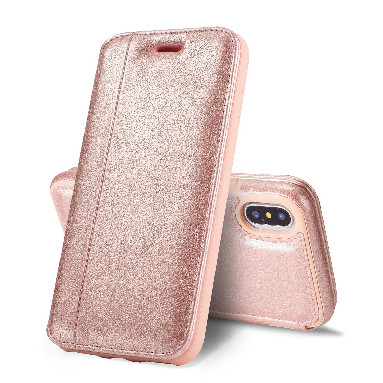 buy popular d1b30 c01b0 Amazon.com: iPhone X Wallet Case for Women Girl,[KAIFX] Slim Cute ...