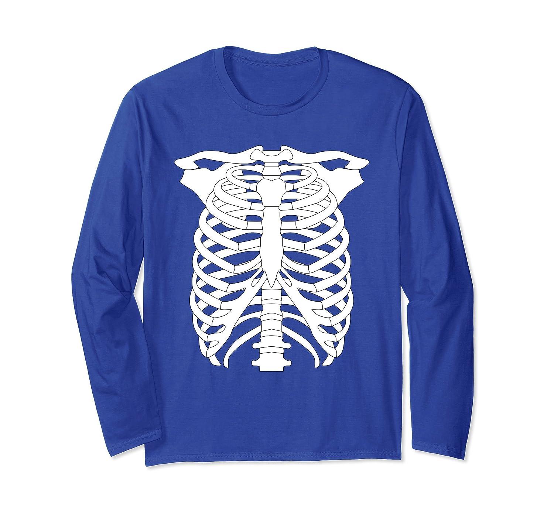 Cool Human Skeleton Halloween Costume Long Sleeve T-Shirt-mt