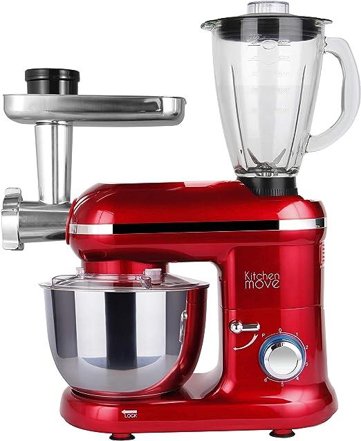 DALLAS PRO - Robot de cocina multifunción (1500 W, cuenco 5,5 L), color rojo: Amazon.es: Hogar
