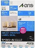 エーワン ラベルシール インクジェット 超耐水 光沢紙 65面 10枚 64265