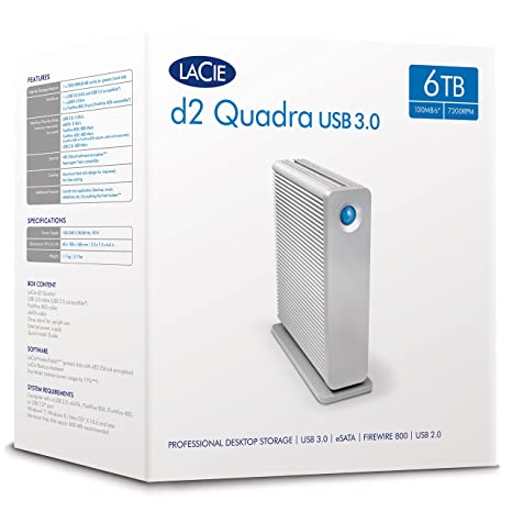 Desktop STGJ6000400 SATA LaCie d2 Quadra 6 TB External Hard Drive