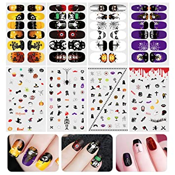 Amazon Etereauty Halloween Nail Sticker Nail Art Decals Full