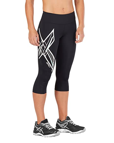 8917a7eb250044 Amazon.com: 2XU Women's Ice X Mid-Rise Compression 3/4 Tights: Clothing