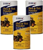 Zodiac Flea and Tick Powder for Dogs, Puppies, Cats, and Kittens 6oz (3 Pack)